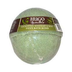 Hugo & Debra Naturals, Fizzy Bath Bomb, Eucalyptus, Rosemary & Mint, 6 oz (170 g)