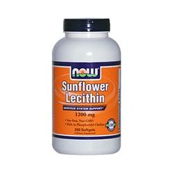 Now Foods, Sunflower Lecithin, 1200 mg, 200 Softgels