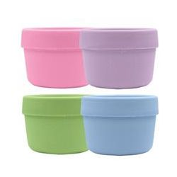 iPlay Inc., Green Sprouts, Snack Cups, 3 Months- 2 Years +, 4 Cups/4 Lids