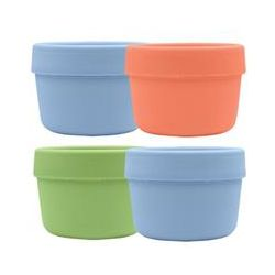 iPlay Inc., Green Sprouts, Snack Cups, 3 Months- 2 Years+, 4 Cups/4 Lids, 4 oz (118 ml) Each