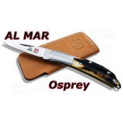 Al Mar Osprey Stag Folder w Leather Pouch 1001s New