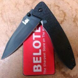 Benchmade Heckler Koch HK Nitrous Blitz Folding Knife Plain Edge 14460BT