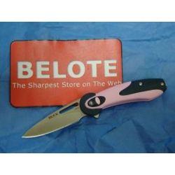 Buck Knives Revel Folding Knife Plain Edge Pink Handle 0766PNS New