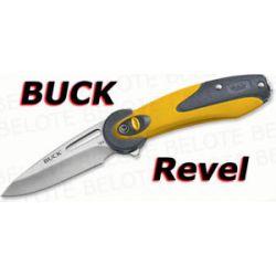 "Buck Revel Folder Yellow 2 5"" Plain Edge 2 4 oz 766YWS"