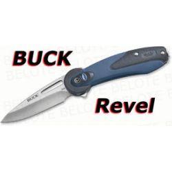 "Buck Revel Folder Blue 2 5"" Plain Edge 2 4 oz 766BLS"