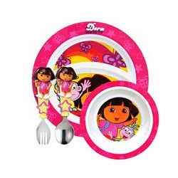 Munchkin, Dora the Explorer Toddler Dining Set