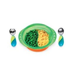 Munchkin, Mighty Grip Suction Bowl Dining Set, 12+ Months
