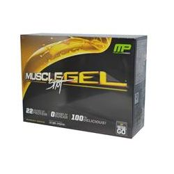 Muscle Pharm, Muscle Gel Shot, Protein on the Go, Banana Cream, 12 Gel Packs, 46 g Each