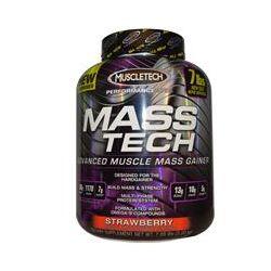 Muscletech, Mass-Tech, Advanced Muscle Mass Gainer, Strawberry, 7 lbs (3.2 kg)