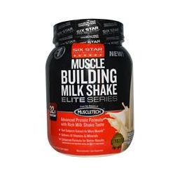 Muscletech, Six Star Pro Nutrition, Muscle Building Milk Shake, Rich Vanilla Ice Cream Milkshake, 2 lbs (908 g)