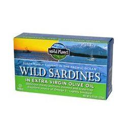 Wild Planet, Wild Sardines In Extra Virgin Olive Oil, 4.375 oz (125 g)