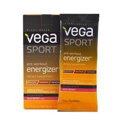 Vega (Sequel) Naturals, Sport, Pre-Workout Energizer, Acai Berry Flavor, 12 Packs, 0.6 oz (18 g) Each
