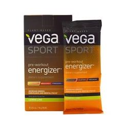 Vega (Sequel) Naturals, Sport, Pre-Workout Energizer, Lemon Lime, 12 Packs, 0.6 oz (18 g) Each