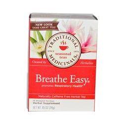 Traditional Medicinals, Seasonal Teas, Breathe Easy, Caffeine Free, 16 Wrapped Tea Bags, .85 oz (24 g)