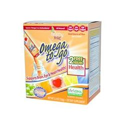 To Go Brands, Healthy To Go, Omega To Go, Creamsicle Orange Flavor, 24 Packets, 5.5 oz (156 g)