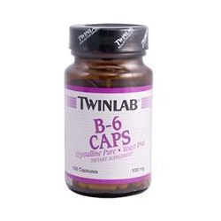 Twinlab, B-6 Caps, 100 mg, 100 Capsules