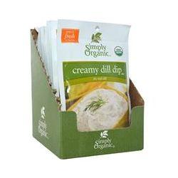 Simply Organic, Creamy Dill Dip Mix, 12 Packets, 0.70 oz (20 g) Each