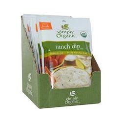 Simply Organic, Ranch Dip Mix, 12 Packets, 1.50 oz (43 g) Each