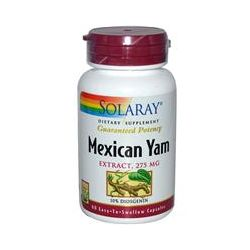 Solaray, Mexican Yam, Extract, 275 mg, 60 Easy-To-Swallow Capsules
