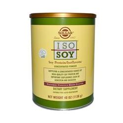 Solgar, Iso Soy, Soy Protein/Isoflavone Concentrated Powder, Natural Vanilla Bean Flavor, 40 oz (1136 g)