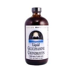 Source Naturals, Liquid Glucosamine Chondroitin, 1500 mg/1200 mg, 16 fl oz (473.12 ml)