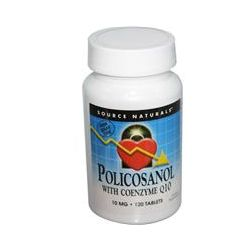 Source Naturals, Policosanol, with Coenzyme Q10, 10 mg, 120 Tablets