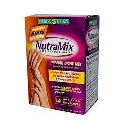 Nature's Bounty, NutraMix for Strong Nails, Orange Drink Mix, 14 Envelopes