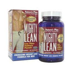 Nature's Plus, Mighty Lean, Energizing Weight Loss Formula for Men, Ephedra Free, 90 Capsules