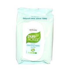 """Nelson Bach USA, Pure & Clear, Purifying Cleansing Wipes, 32 Facial Wipes, 5.0"""" x 7.8"""" Each"""