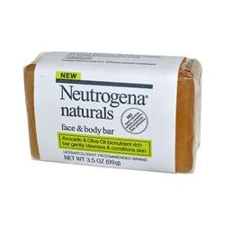 Neutrogena Naturals, Face & Body Bar, Avocado & Olive Oil, Fragrance Free, 3.5 oz (99 g)