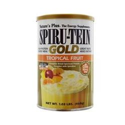 Nature's Plus, Spiru-Tein Gold, High Protein Energy Meal, Tropical Fruit, 1.03 lbs (468 g)