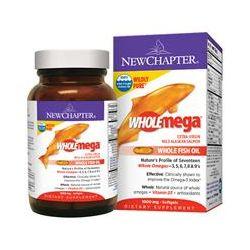 New Chapter, Wholemega, Extra-Virgin Wild Alaskan Salmon Whole Fish Oil, 1000 mg, 180 Softgels