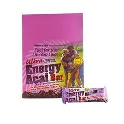 Nature's Plus, Ultra Energy Açai Bar, Chocolate Berry, 12 Bars, 2.1 oz (60 g) Each