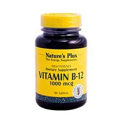Nature's Plus, Vitamin B-12, 1000 mcg, 90 Tablets