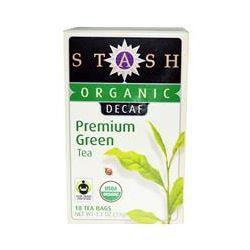 Stash Tea Company, Organic, Premium, Decaf, Premium Green Tea, 18 Tea Bags, 1.1 oz (33 g)