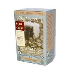 Numi Tea, Organic Aged Earl Grey, Black Tea, 18 Full Leaf Tea Bags, 1.27 oz (36 g)