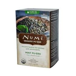 Numi Tea, Organic, Mint Pu•Erh, 16 Tea Bags, 1.13 oz (32 g)