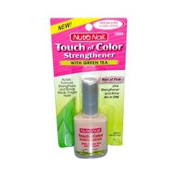 Nutra Nail, Touch of Color, Strengthener with Green Tea, Hint of Pink, .50 fl oz (15 ml)