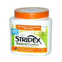 Stridex, Natural Control, Alcohol Free, 70 Triangle Pads