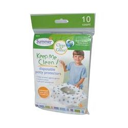 Summer Infant, Clean & Green, Keep Me Clean! Disposable Potty Protectors, Ages 18 Months & Up, 10 Count