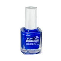 Suncoat, Polish & Peel, Water-Based Nail Polish, Lovely Lapis, 0.27 oz (8 ml)