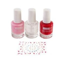 Suncoat Girl, Natural Nail Beauty Kit, Water-Based Nail Polishes, Ballerina Beauty, 3 Piece Kit