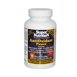 Super Nutrition, AntiOxidant Power, 60 Veggie Food-Based Tabs