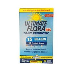 Renew Life, Ultimate Flora, RTS Daily Probiotic, 15 Billion, 60 Veggie Capsules