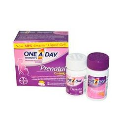 One-A-Day, Womens Prenatal, with DHA, 2 Bottles, 30 Liquid Gels/30 Tablets