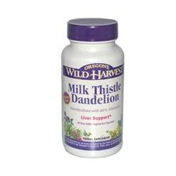 Oregon's Wild Harvest, Milk Thistle Dandelion, 90 Veggie Caps