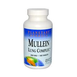 Planetary Herbals, Mullein Lung Complex, 850 mg, 180 Tablets