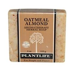 Plantlife, Aromatherapy Herbal Soap Bar, Oatmeal Almond, 4 oz  (113 g)