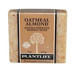 Plantlife, Aromatherapy Herbal Soap Bar, Oatmeal Almond, 4 oz  (113 g)