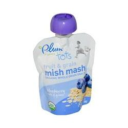Plum Organics, Tots Fruit & Grain Mish Mash, Blueberry, Oats & Quinoa, 3.17 oz (90 g)